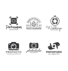 set of photography logo vector image