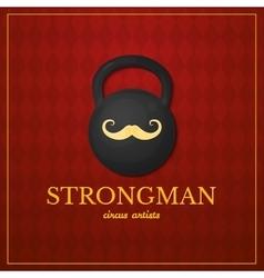 Strongman logo circus design vector image vector image