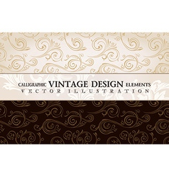 vintage wallpaper Gift wrap Floral background with vector image