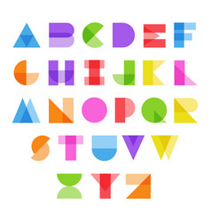 abstract alphabet in color vector image