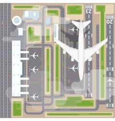 Airport landing strips top view vector image