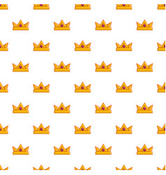Baronet crown pattern seamless vector