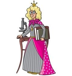 Beautyful queen-scientist vector image