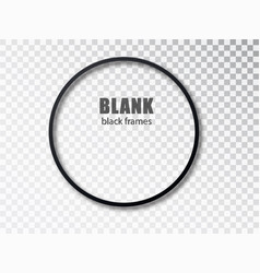 black circle blank picture frames empty frame vector image