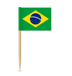 brazil flag toothpick 10eps vector image