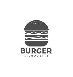 burger silhouette graphic design template vector image