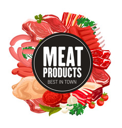 butchery meat products butcher shop food vector image