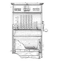 Cash register vintage vector