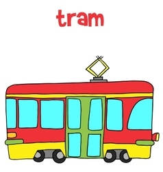 Collection of tram art vector image