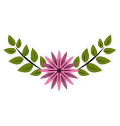 cute flower branch decoration vector image