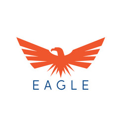 design template abstract patriotic eagle vector image