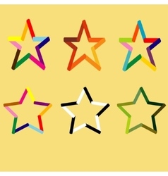 different stars set vector image