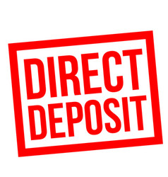 Direct deposit stamp vector