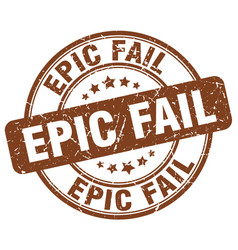 Epic fail brown grunge round vintage rubber stamp vector