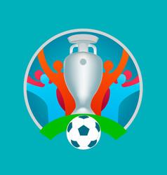 European football cup 2020 sports concept logo vector