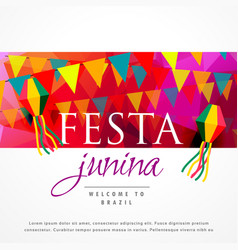 festa junina carnival background design vector image