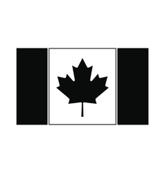 Flag of Canada icon simple style vector