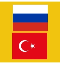 Flags of Russia and Turkey vector