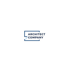 Floorplan logo building architect construction vector