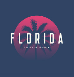Florida miami ocean drive t-shirt and apparel vector