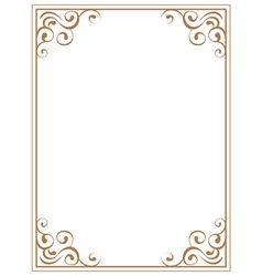 Frame with brown patterns on a white background vector