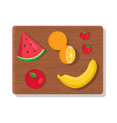 fruit summer picnic collection vector image