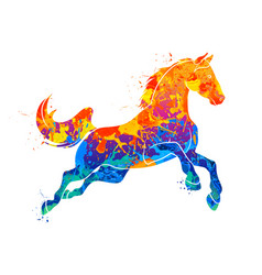 galloping horse abstract vector image