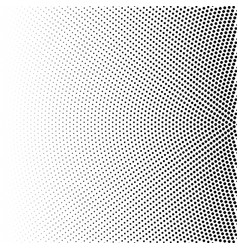 halftone of radial gradient with black dots vector image