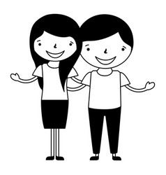 happy couple holding each other vector image