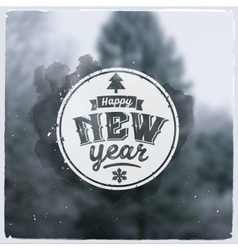 Happy New Year Creative graphic message for winter vector image