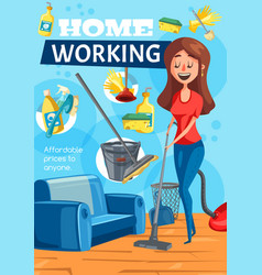 Home cleaning clean house service vector
