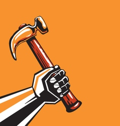Human hand with a hammer vector image