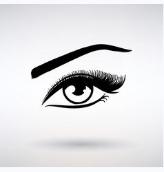 icon female eye with long eyelashes vector image