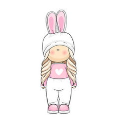 interior doll in a bunny costume vector image
