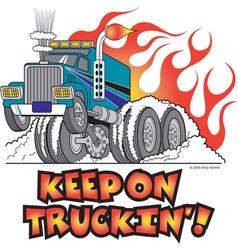 Keep on truckin vector