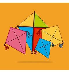 Kite design over yellow background vector