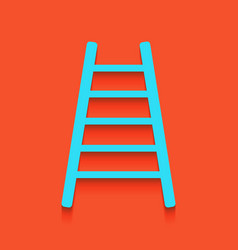 Ladder sign whitish icon on vector