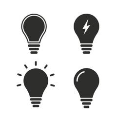 Lamp icon set vector