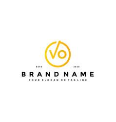 Letter vo logo design vector