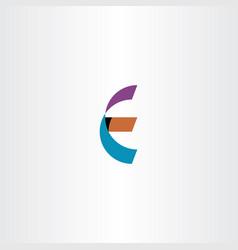 logotype e icon letter vector image