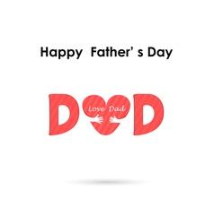 Love Heart Care logo vector image vector image