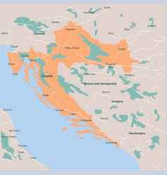 map croatia isolated eps 10 vector image