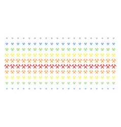 Mining hammers shape halftone spectral array vector
