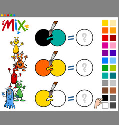 Mix colors game for children vector