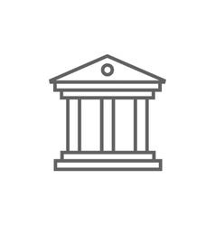 Museum line icon vector
