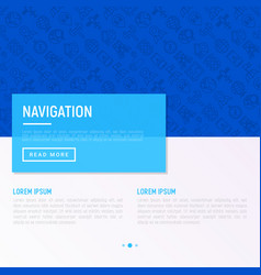 navigation and direction concept vector image
