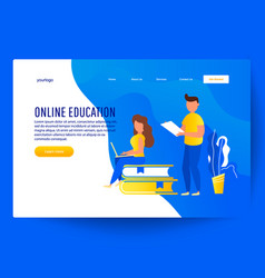 Online education program vector