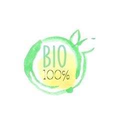 Percent Bio Fresh Products Promo Sign vector