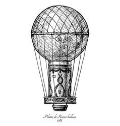 pilatre de rozier balloon vector image