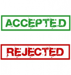 rejected and accepted stamps vector image